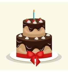 cake chocolate sweet graphic vector image