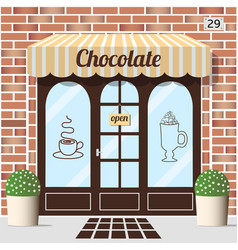 Chocolate shop facade vector