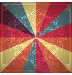 Circle lace ornament round ornamental geometric vector image