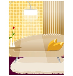 Couch and lamp interior vector image vector image