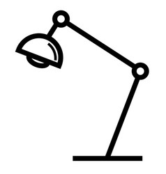 desk lamp icon vector image