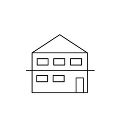 Duplex house icon vector