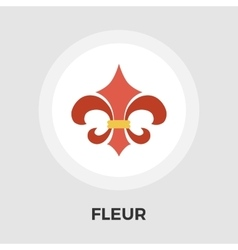 Fleur flat icon Vintage Style vector image