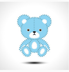 flurry teddy bear vector image
