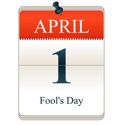 Fools Day vector image vector image