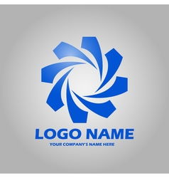 geometric abstract logo icon vector image