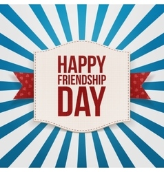 Happy friendship day festive emblem vector