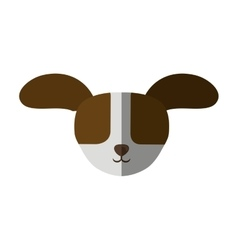 Head dog big ears up shadow vector