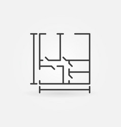 house plan concept icon vector image vector image