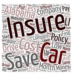 How to compare low cost car insurance in alabama vector