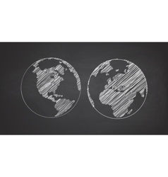 Icon set of earth globe vector