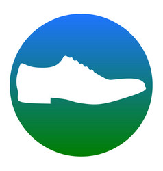 men shoes sign white icon in bluish vector image