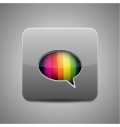 messager chat application icon vector image
