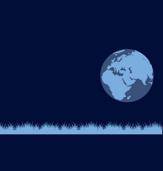 On blue background earth day vector