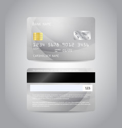 Realistic detailed credit card vector