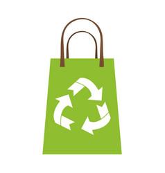 recyclable eco friendly icon image vector image vector image