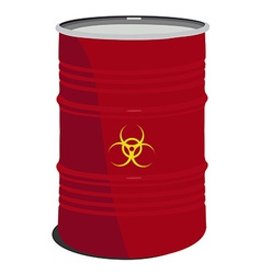 Red barrel toxic vector image