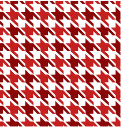 Red mix hounds tooth seamless pattern vector
