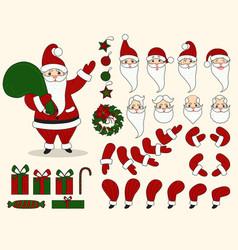 santa claus character animation set vector image vector image