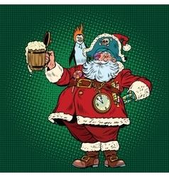 Santa claus congratulates st patricks day vector