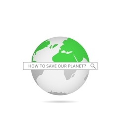 Save our planet vector