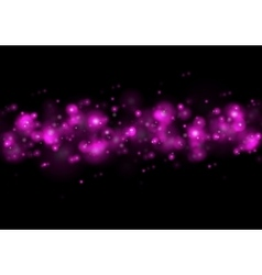 Shiny purple lights abstract bokeh vector image vector image