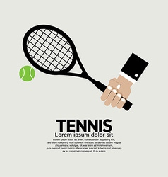 Tennis Playing Graphic vector image