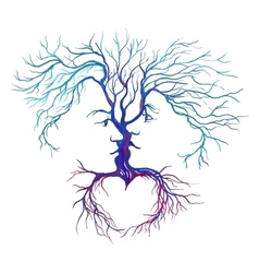 Tree in the form of men and women vector