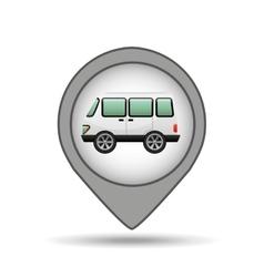 Wagon car icon map pointer design vector