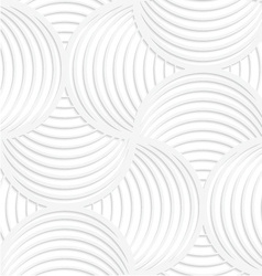White paper 3d slim stripes circle pin will vector