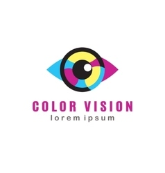 Color vision logo vector