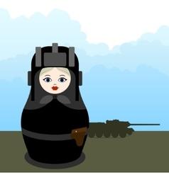 Matryoshka tankman vector