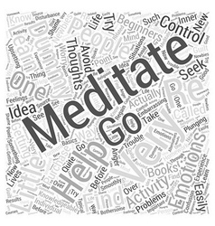 Meditation for dummy word cloud concept vector