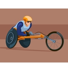 Racing on the sports wheelchair vector image