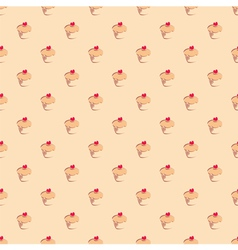 Seamless pattern or texture with muffin cupcakes vector image