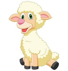 Cute sheep cartoon vector