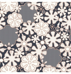 Seamless abstract lace floral pattern vector