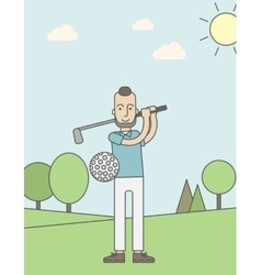 Golf player man vector image
