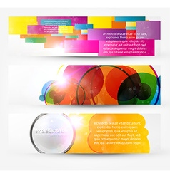 Web banner set vector
