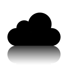 Cloud icon  flat design style vector