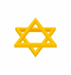 Star of david icon cartoon style vector