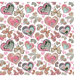 Seamless pattern with colorful vintage pastel pink vector