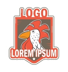 Logos with the image of a rooster vector