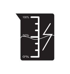 Flat icon in black and white beaker vector