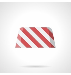 Striped road block flat color icon vector