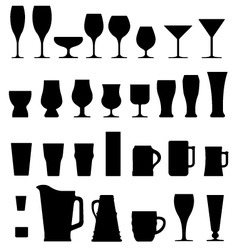alcohol glasses vector image vector image