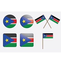 badges with flag of South Sudan vector image vector image