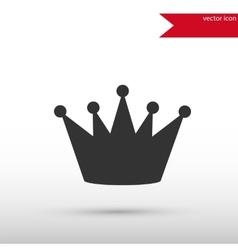 Black crown icon vector