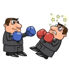 Businessman is punching competitor 2 vector