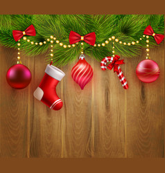 Christmas Festive Template vector image vector image